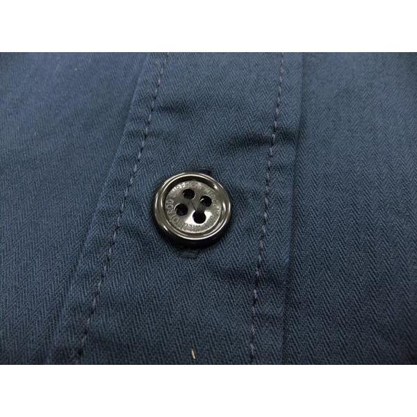 MWS アメカジシャツ ヘリンボーン MWS定番柄 1513005 ダークネイビー 新品|rodeomatubara|06