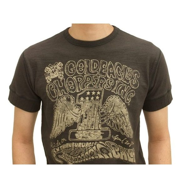 MWS 半袖Tシャツ アメリカン バイカーズ  ゴールドイーグルス 1513701 スミクロ 3L 新品|rodeomatubara|03