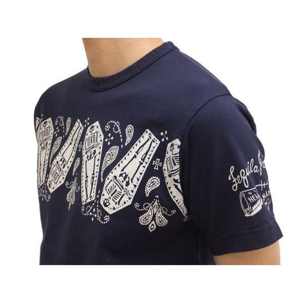 MWS 半袖Tシャツ スカル バンダナパネル 1513702 紺 新品 rodeomatubara 03