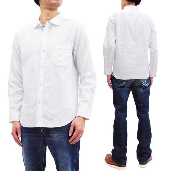 フェローズ クラシック ワークシャツ Pherrows フロンティアシリーズ 無地 長袖シャツ 20S-100W 白 新品 rodeomatubara
