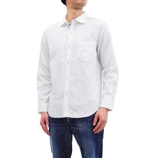 フェローズ クラシック ワークシャツ Pherrows フロンティアシリーズ 無地 長袖シャツ 20S-100W 白 新品 rodeomatubara 11