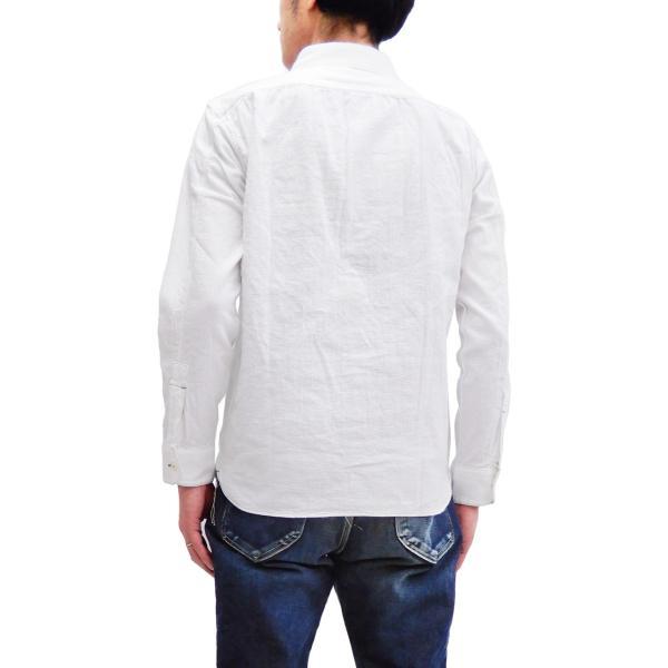 フェローズ クラシック ワークシャツ Pherrows フロンティアシリーズ 無地 長袖シャツ 20S-100W 白 新品 rodeomatubara 12