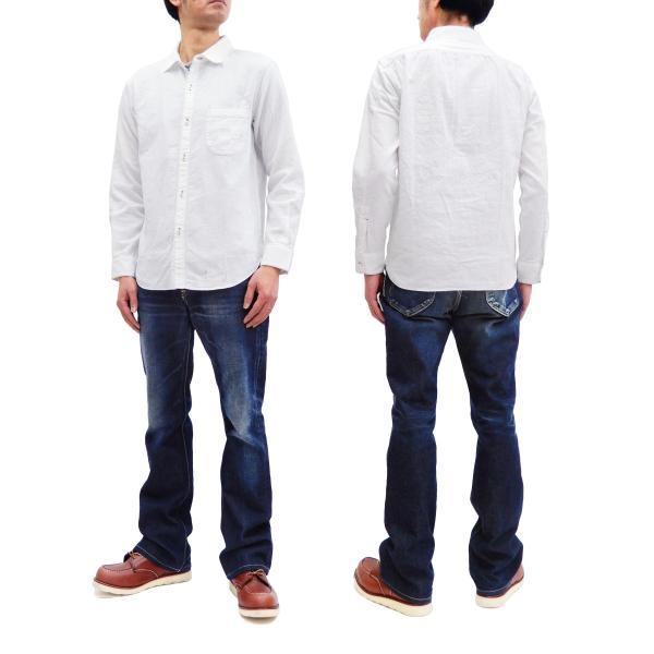 フェローズ クラシック ワークシャツ Pherrows フロンティアシリーズ 無地 長袖シャツ 20S-100W 白 新品 rodeomatubara 13