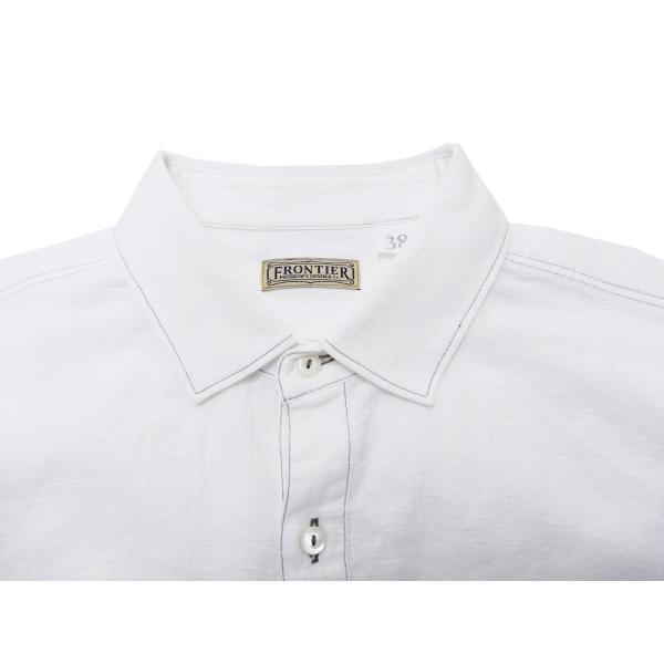 フェローズ クラシック ワークシャツ Pherrows フロンティアシリーズ 無地 長袖シャツ 20S-100W 白 新品 rodeomatubara 05