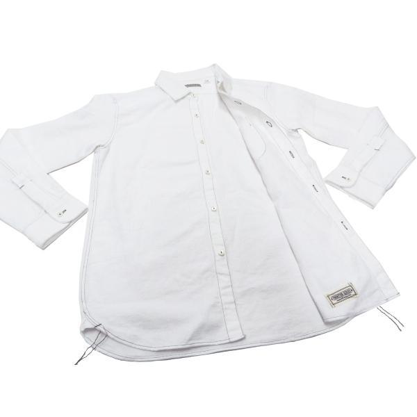 フェローズ クラシック ワークシャツ Pherrows フロンティアシリーズ 無地 長袖シャツ 20S-100W 白 新品 rodeomatubara 06