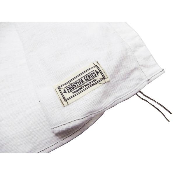 フェローズ クラシック ワークシャツ Pherrows フロンティアシリーズ 無地 長袖シャツ 20S-100W 白 新品 rodeomatubara 07