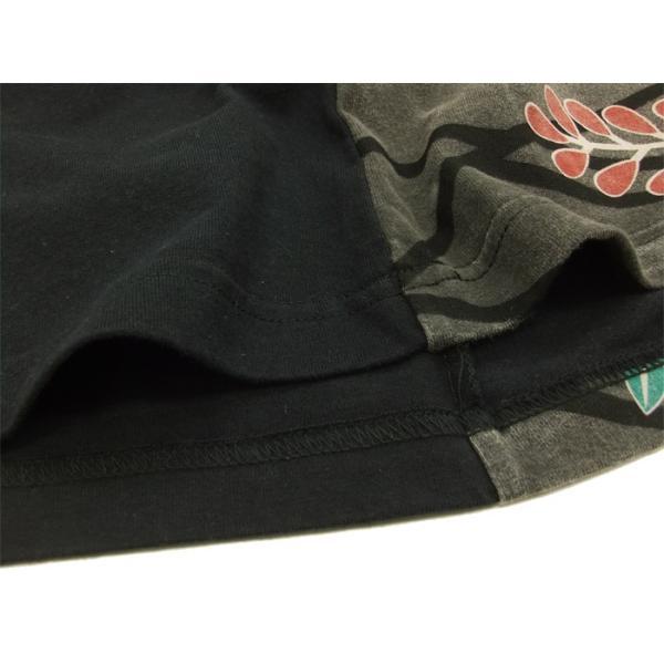 華鳥風月 和柄 長袖Tシャツ 花札 猪鹿蝶 刺繍ロンT 373152 黒 新品|rodeomatubara|07