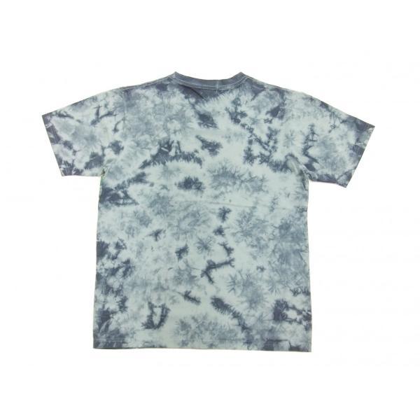 華鳥風月 和柄 半袖Tシャツ タイダイ染め 金魚と波紋 刺繍Tシャツ 382218 サックスグレー 新品|rodeomatubara|06