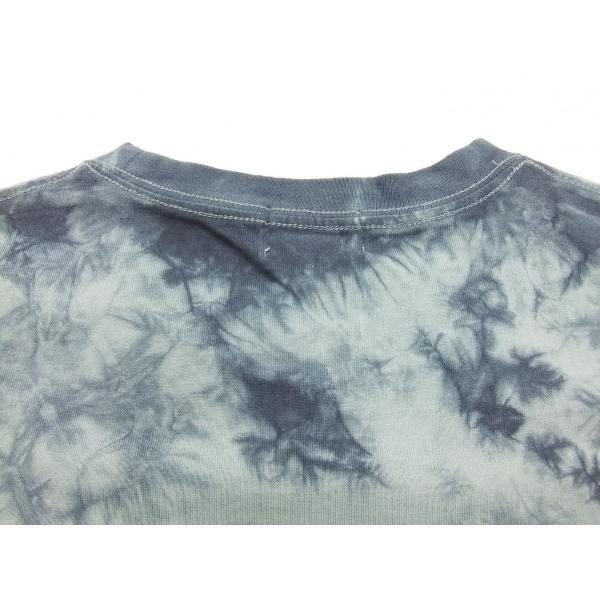 華鳥風月 和柄 半袖Tシャツ タイダイ染め 金魚と波紋 刺繍Tシャツ 382218 サックスグレー 新品|rodeomatubara|07