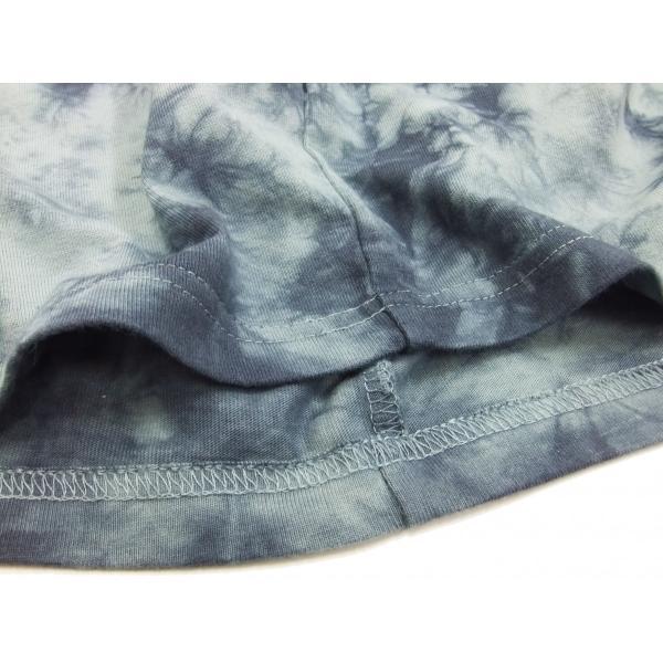 華鳥風月 和柄 半袖Tシャツ タイダイ染め 金魚と波紋 刺繍Tシャツ 382218 サックスグレー 新品|rodeomatubara|08