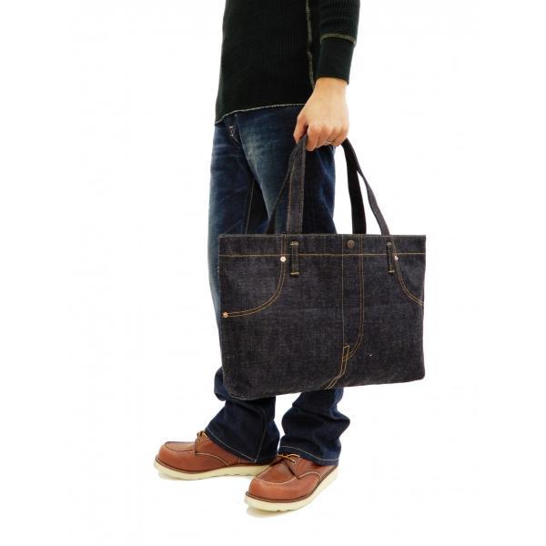 桃太郎ジーンズ 出陣デニム トートバッグ B-11-S デニムパンツデザイン 鞄 新品 rodeomatubara 02