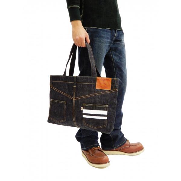 桃太郎ジーンズ 出陣デニム トートバッグ B-11-S デニムパンツデザイン 鞄 新品 rodeomatubara 03