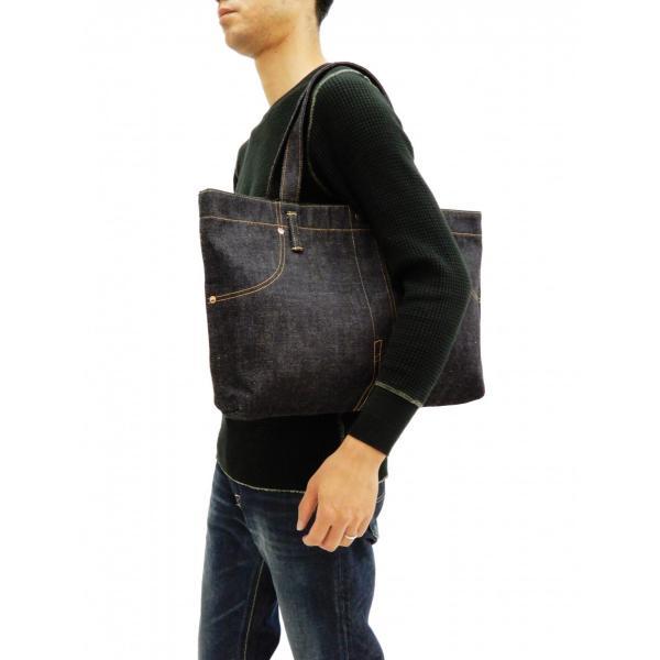 桃太郎ジーンズ 出陣デニム トートバッグ B-11-S デニムパンツデザイン 鞄 新品 rodeomatubara 04