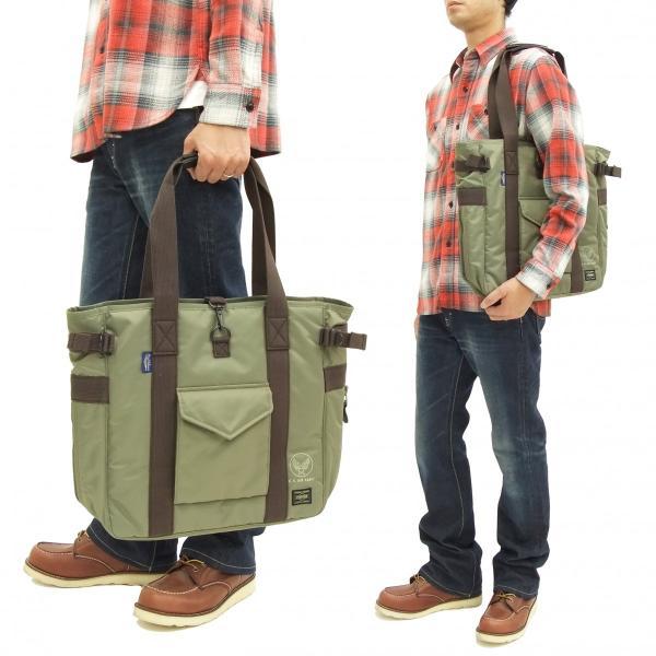 バズリクソンズ × ポーター BR02532 ナイロン トートバッグ メンズ カジュアル バッグ 鞄 セージグリーン 新品|rodeomatubara|02