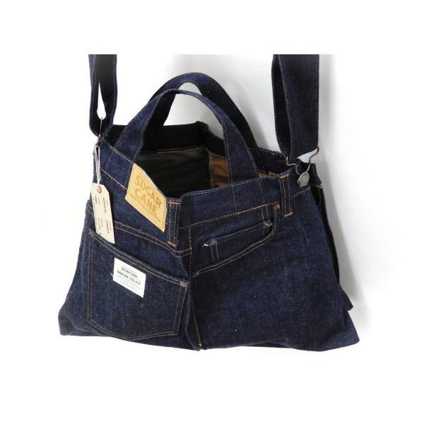 シュガーケーン バッグ SC02634 5ポケット リメイクデニム 2WAY トート×ショルダーバッグ 鞄 新品|rodeomatubara|16