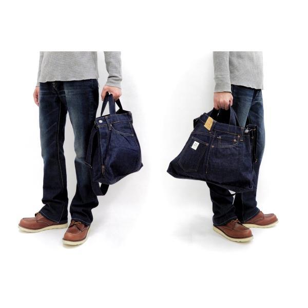 シュガーケーン バッグ SC02634 5ポケット リメイクデニム 2WAY トート×ショルダーバッグ 鞄 新品|rodeomatubara|03