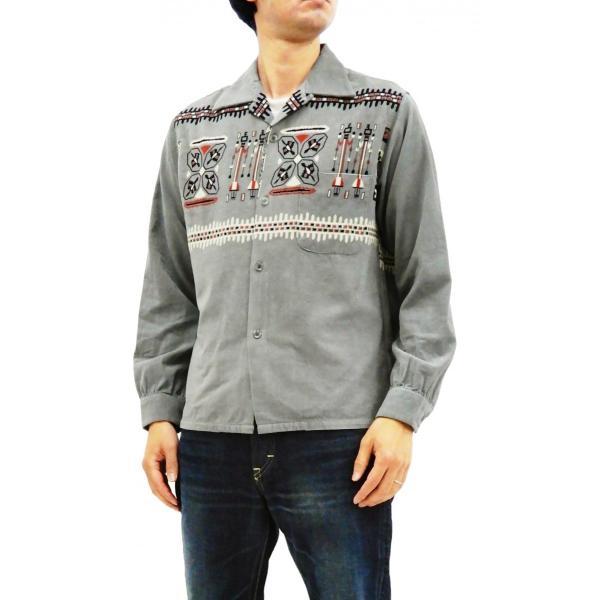 スタイルアイズ コーデュロイスポーツシャツ TRIBE MOTIFS ネイティブ柄 東洋エンタープライズ 長袖シャツ SE27989 グレー 新品|rodeomatubara|10