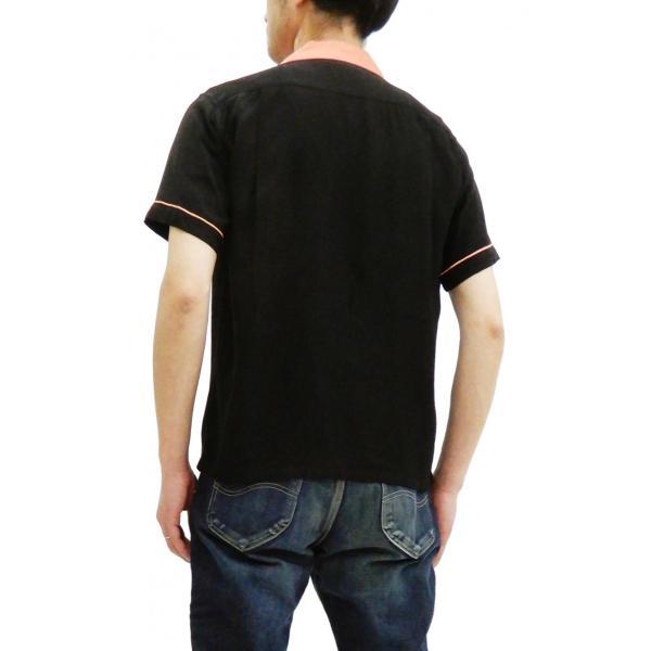 スタイルアイズ ボウリングシャツ SE38073 東洋 半袖シャツ 無地 2トーン ボーリングシャツ ブラック 新品 rodeomatubara 11