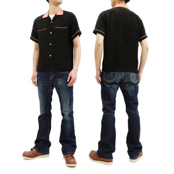 スタイルアイズ ボウリングシャツ SE38073 東洋 半袖シャツ 無地 2トーン ボーリングシャツ ブラック 新品 rodeomatubara 12