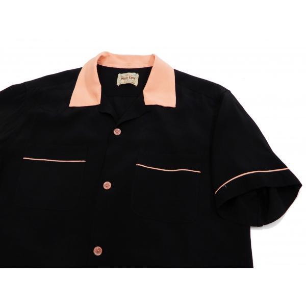スタイルアイズ ボウリングシャツ SE38073 東洋 半袖シャツ 無地 2トーン ボーリングシャツ ブラック 新品 rodeomatubara 04