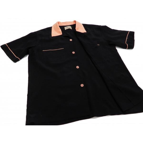 スタイルアイズ ボウリングシャツ SE38073 東洋 半袖シャツ 無地 2トーン ボーリングシャツ ブラック 新品 rodeomatubara 06