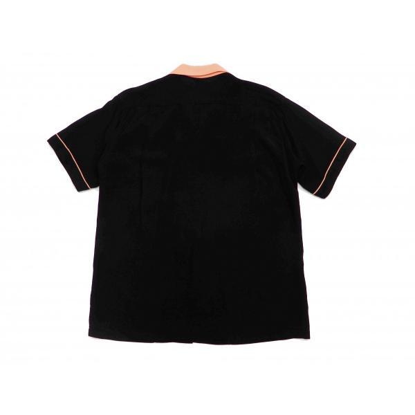 スタイルアイズ ボウリングシャツ SE38073 東洋 半袖シャツ 無地 2トーン ボーリングシャツ ブラック 新品 rodeomatubara 07