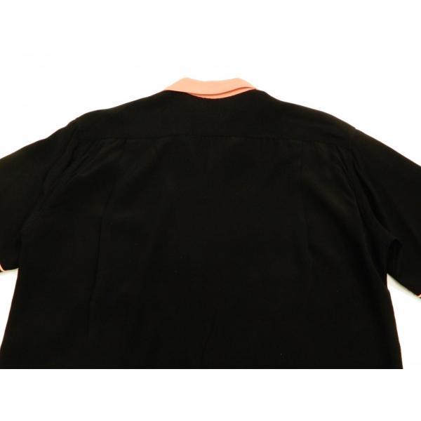 スタイルアイズ ボウリングシャツ SE38073 東洋 半袖シャツ 無地 2トーン ボーリングシャツ ブラック 新品 rodeomatubara 08
