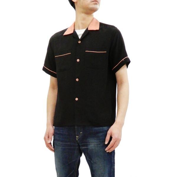 スタイルアイズ ボウリングシャツ SE38073 東洋 半袖シャツ 無地 2トーン ボーリングシャツ ブラック 新品 rodeomatubara 10