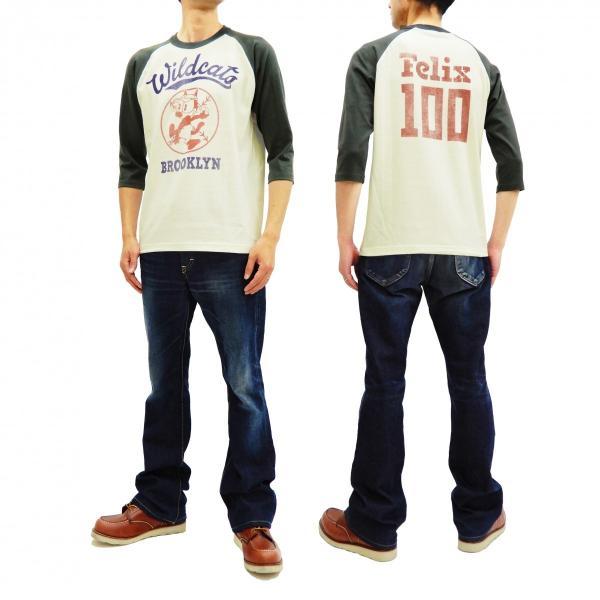 トイズマッコイ 七分袖Tシャツ フィリックス TOYS McCOY ラグラン ベースボールTシャツ TMC1944 オフ白×黒 新品|rodeomatubara|11