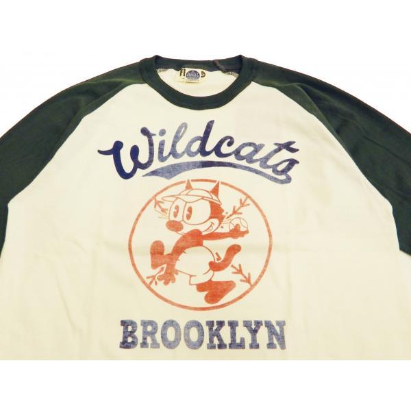 トイズマッコイ 七分袖Tシャツ フィリックス TOYS McCOY ラグラン ベースボールTシャツ TMC1944 オフ白×黒 新品|rodeomatubara|04