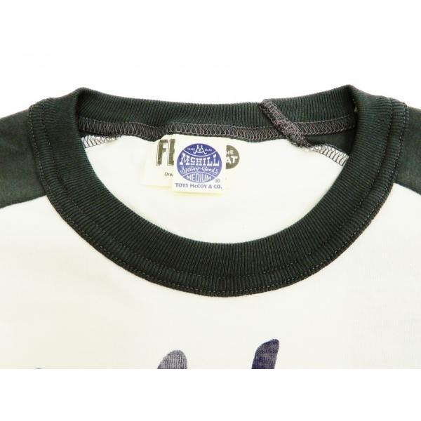 トイズマッコイ 七分袖Tシャツ フィリックス TOYS McCOY ラグラン ベースボールTシャツ TMC1944 オフ白×黒 新品|rodeomatubara|05