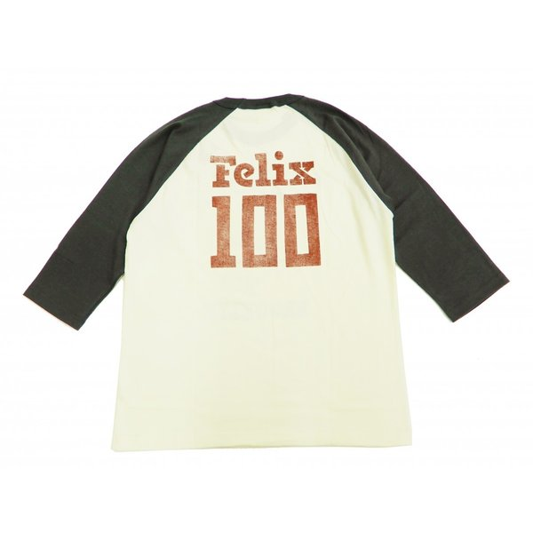 トイズマッコイ 七分袖Tシャツ フィリックス TOYS McCOY ラグラン ベースボールTシャツ TMC1944 オフ白×黒 新品|rodeomatubara|06
