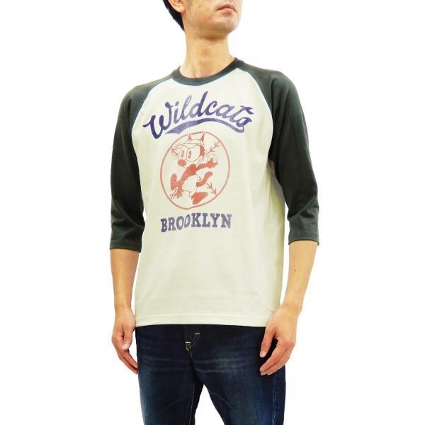 トイズマッコイ 七分袖Tシャツ フィリックス TOYS McCOY ラグラン ベースボールTシャツ TMC1944 オフ白×黒 新品|rodeomatubara|09
