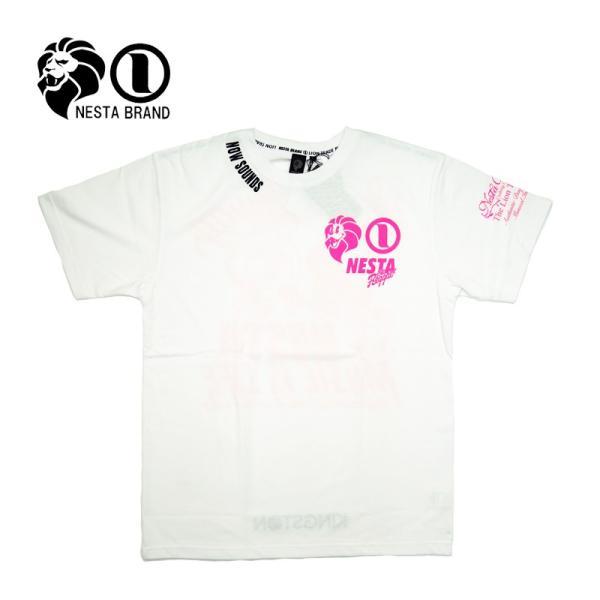 """NESTA BRAND ネスタブランド 半袖Tシャツ """"ポップ ライオン 3ロゴ"""" 192NB1053"""