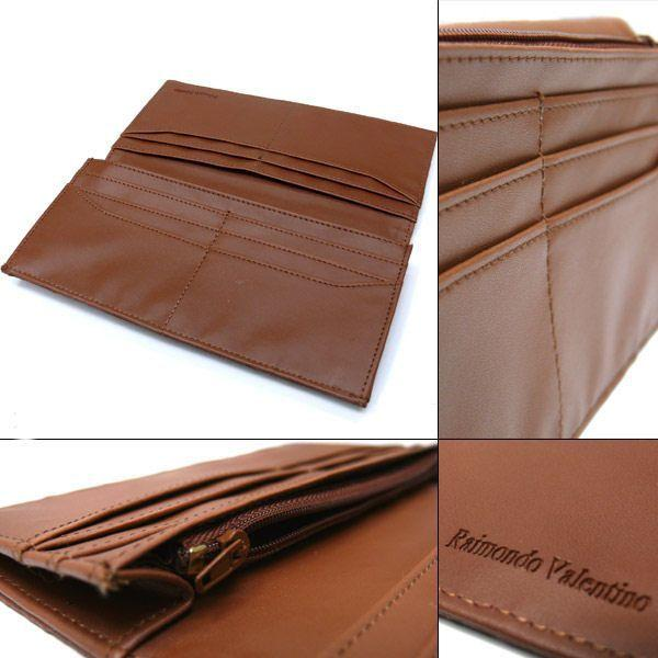 メンズ 長財布 オーストリッチ調 二つ折りロングウォレット メール便可|romanbag|02