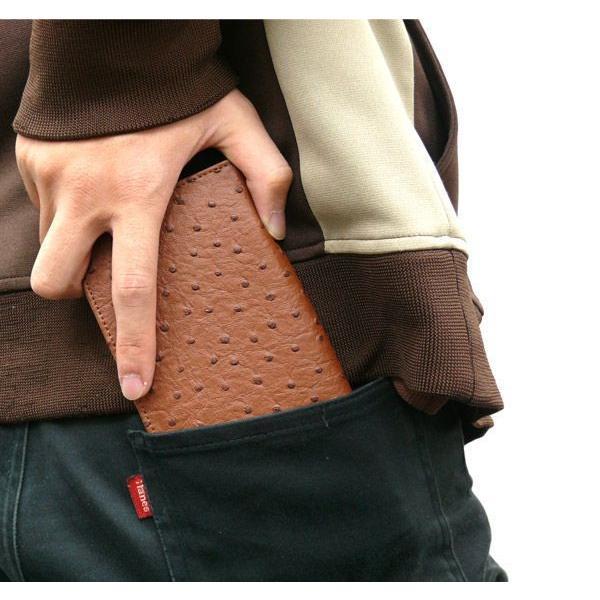 メンズ 長財布 オーストリッチ調 二つ折りロングウォレット メール便可|romanbag|03