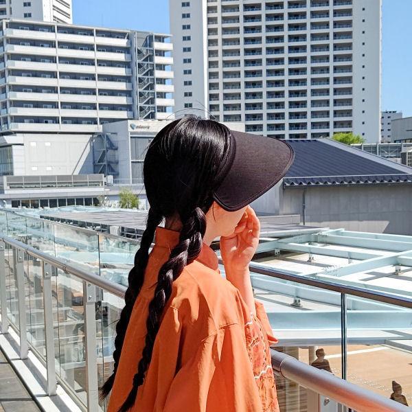 即納品 紫外線防止 サンバイザー UVカットキャップ レディース 夏に必需品 シンプル バイザー|romanbag