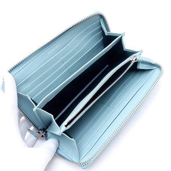 バレンシアガ 長財布 長財布 ペーパー 381226 レザー ライトブルー 中古 新入荷 おすすめ OBB0252|ronde|04