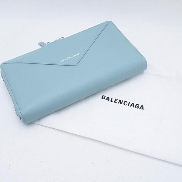 バレンシアガ 長財布 長財布 ペーパー 381226 レザー ライトブルー 中古 新入荷 おすすめ OBB0252|ronde|06