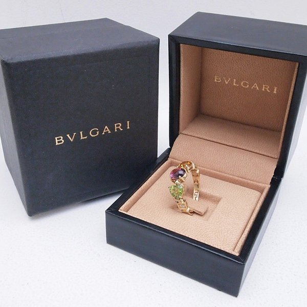 ブルガリ BVLGARI 指輪リング アレグラ K18/ペリドット/トルマリン/シトリン/ダイヤ マルチカラー 中古 新入荷 おすすめ BV0089|ronde|06
