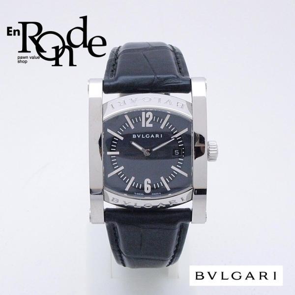 ブルガリ BVLGARI レディース腕時計 ブルガリ アショーマ AA39S SS/革 ブルーグレー文字盤 中古 新入荷 おすすめ 新着|ronde