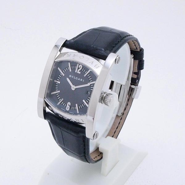 ブルガリ BVLGARI レディース腕時計 ブルガリ アショーマ AA39S SS/革 ブルーグレー文字盤 中古 新入荷 おすすめ 新着|ronde|02