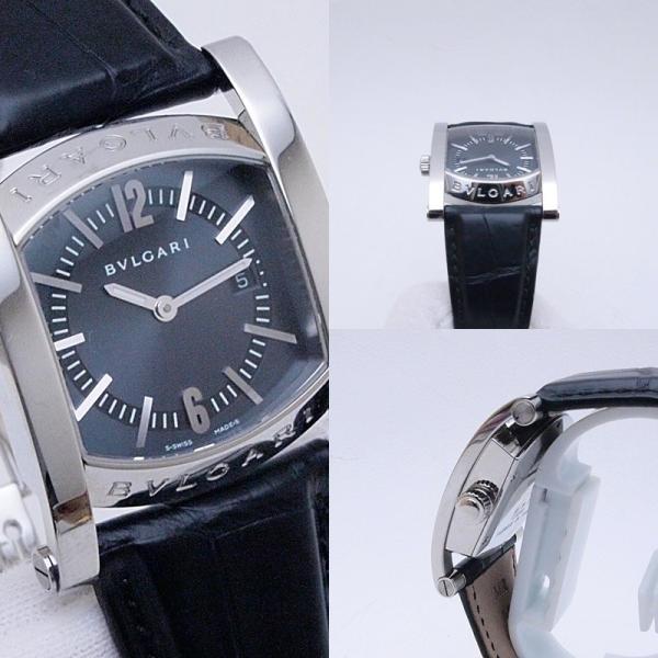 ブルガリ BVLGARI レディース腕時計 ブルガリ アショーマ AA39S SS/革 ブルーグレー文字盤 中古 新入荷 おすすめ 新着|ronde|05