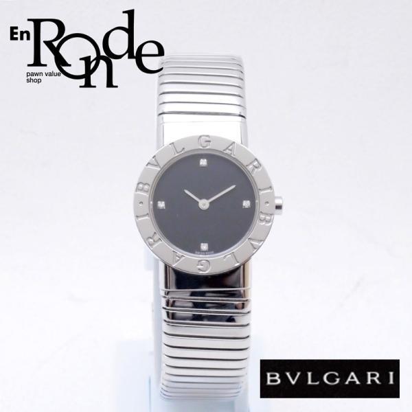 ブルガリ BVLGARI レディース時計 ブルガリ ブルガリ BB262TS SS(ステンレス)/ダイヤ ブラック文字盤 中古 新入荷 おすすめ BV0088 ronde