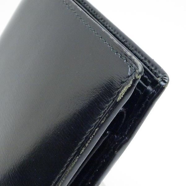 カルティエ Cartier 二つ折財布 マスト 二つ折り財布 レザー 黒 中古|ronde|03