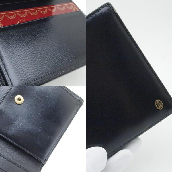 カルティエ Cartier 二つ折財布 マスト 二つ折り財布 レザー 黒 中古|ronde|05