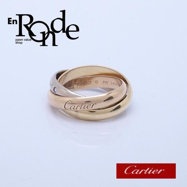 カルティエ Cartier 指輪リング トリニティリング K18/5PD スリーゴールド 中古 新入荷 おすすめ ronde