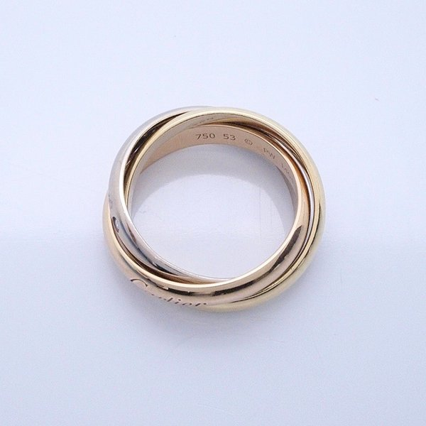カルティエ Cartier 指輪リング トリニティリング K18/5PD スリーゴールド 中古 新入荷 おすすめ ronde 02