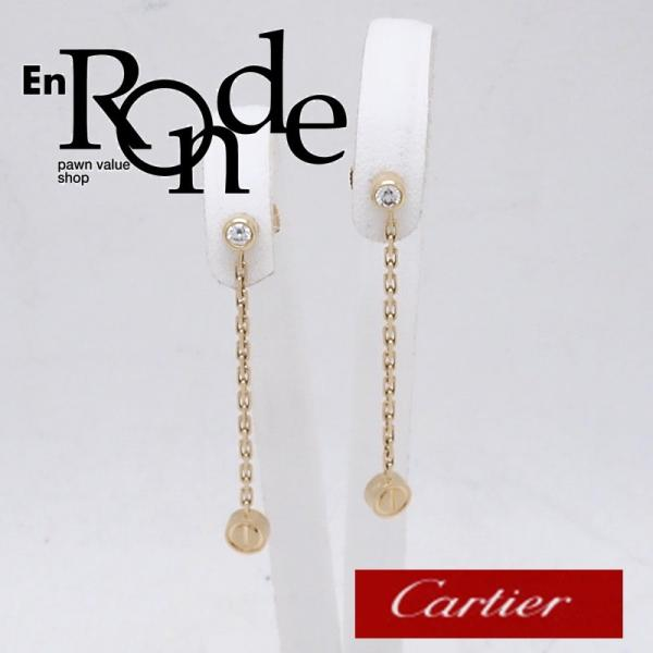 カルティエ Cartier ピアスイヤリング ピアス ラブチェーン K18/ダイヤ ゴールド 中古 新入荷 おすすめ CA0363 ronde