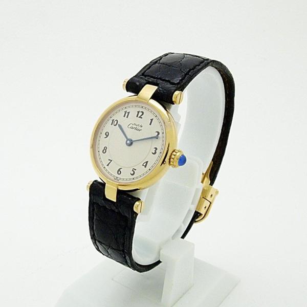 カルティエ Cartier レディース腕時計 マスト ヴェルメイユ SV(シルバー)/革 白文字盤 中古 新入荷 おすすめ|ronde|02